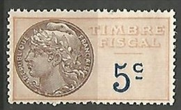 FISCAL /  N° 5 NEUF** SANS CHARNIERE / MNH - Steuermarken