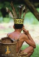 Maleisië - Malaisie - Malaysia. Borneo - Bornéo. Sarawak: Traditionele Iban Krijger - Guerrier Iban Traditionnel. - Malaysia