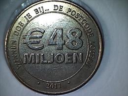 Nederland - Jeton - Nationale Postcode Loterij 2011 - Netherland