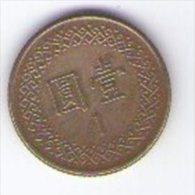 Taywan 1 Dollar - Taiwan