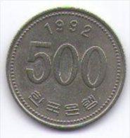 Corea Del Sud 500 Won 1992 - Corea Del Sud