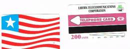 LIBERIA  - LTC  (URMET) - 1995 LIBERIAN FLAG  200 UNITS - MINT (UNUSED)   -  RIF. 763 - Liberia