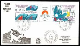 Franz.Gebiete I.d.Antarktis - Mi.Nr . 242  243     Gestempelt -     FDC - FDC