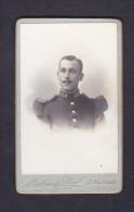 Photo Originale Portrait Militaire 123 Regiment Infanterie La Rochelle Photo Mestres De Pujol - Guerre, Militaire
