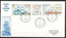 Franz.Gebiete I.d.Antarktis - Mi.Nr . 268 - 269    Gestempelt -     FDC - FDC