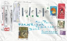 France 2015 Saint Quentin Writers Comics Painting Garden Barcoded Registered Cover - Brieven En Documenten