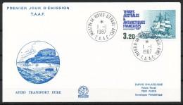 Franz.Gebiete I.d.Antarktis - Mi.Nr .     227      Gestempelt -     FDC - FDC