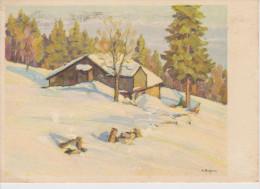 Schweiz Svizzera, Suisse, Switzerland Pro Infirmis W. Bugnon Bauernhaus Im Jura, Ferme Du Jura, Massera Del Jura 1949 - Croix-Rouge