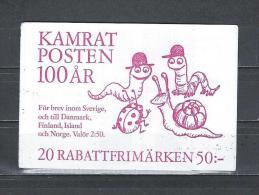 Zweden 1992 - Yv. Boekje C1699 - Michel MH171 Gest./obl./used - Carnets