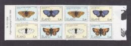 Aland Finland 1994 Butterflies Booklet Mi#MH2 MNH - Aland