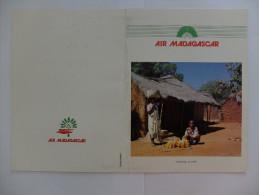 MENU - COMPAGNIE AERIENNE - AIR MADAGASCAR - VOL ANTANANARIVO/PARIS - BOEING 747 COMBI - JUILLET 1990 - Menu