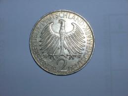 2 Mark (Max Plank) 1957 F (5458) - [ 7] 1949-… : RFA - Rep. Fed. Alemana