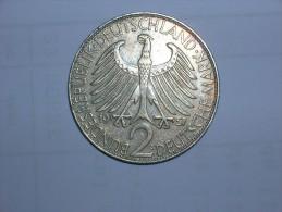 2 Mark (Max Plank) 1957 G (5459) - [ 7] 1949-… : RFA - Rep. Fed. Alemana