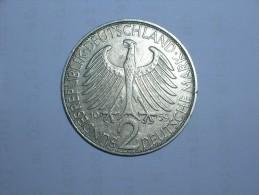2 Mark (Max Plank) 1959 F (5466) - [ 7] 1949-… : RFA - Rep. Fed. Alemana