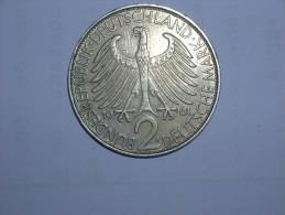 2 Mark (Max Plank) 1961 F (5472) - [ 7] 1949-… : RFA - Rep. Fed. Alemana