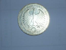 2 Mark (Max Plank) 1962 G (5477) - [ 7] 1949-… : RFA - Rep. Fed. Alemana