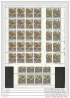 1990 Vaticano Vatican SAN WILLIBRORD 20 Serie Di 3v. In Foglio MNH** Sheets - Nuovi