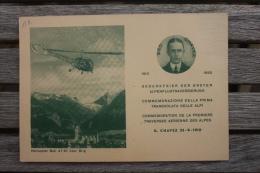 Carte Postale Volo Con Elicottero Briga Domodossola Milano Géo Chavez Recto Verso - 6. 1946-.. Repubblica