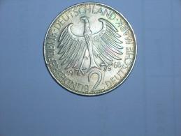 2 Mark (Max Plank) 1968 F (5500) - [ 7] 1949-… : RFA - Rep. Fed. Alemana