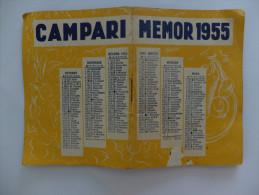 """VADEMECUM DE POCHE POUR TOUS - """"MEMOR"""" - CAMPARI - 1955 - 46 PAGES - Reclame"""