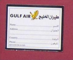 GULF AIR - ETIQUETTE A BAGAGE AUTOCOLLANT COMPAGNIE AERIENNE DU BAHREIN - Étiquettes à Bagages