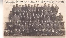 PATRONATO S.VINCENZO-MILANO-VIA BELLINI19-DATA 9-2-1922-FOTO ANGELI-CARTOLINA TENSI - Fotografia