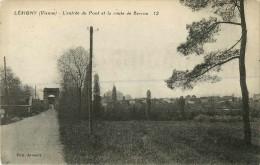 86  Lesigny  L'entrée Du Pont Et La Route De Barrou - Other Municipalities