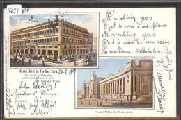 PARIS - HOTEL DU PAVILLON ET GRAND PALAIS DES BEAUX ARTS - TB - Pubs, Hotels, Restaurants
