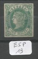 ESP  Edifil  62 ( X ) YT 58 - 1850-68 Royaume: Isabelle II