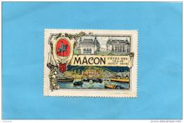 MACON-SUPERBE Vignette *** Gomme Sans Ch-impec--fêtes Des 15&16 Aout 1914-???la Guerre Est Déclarée - Commemorative Labels