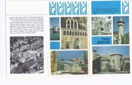 Lebanon Holy Places Brochure Tourism Church Temple & Mosque, Tourisme Liban Booklet - History