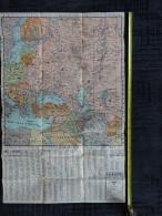 CARTE GEOGRAPHIQUE A REPERAGE EDE N° 21 BIS EUROPE ORENTIALE AFRIQUE NORD EST  Avec Son étui - Geographical Maps