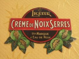 """Publicité  Cartonnée """"CREME DE NOIX SERRES"""" - Plaques En Carton"""