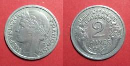 Pi�ce de 2 Francs Morlon Alu. 1945 C.     (m62)