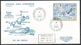 Franz.Gebiete I.d.Antarktis - Mi.Nr .     244     Gestempelt -     FDC - FDC