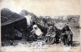 TUNESIEN - Gourbi De Bèdouines, Karte Gel.1917 N.Paris - Tunisia