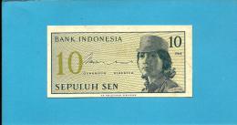 INDONESIA - 10 SEN - 1964 - P 92 - UNC. - Série CDS - Female Volunteer In Uniform - 2 Scans - Indonésie