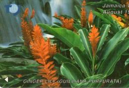TELECARTE  JAMAIQUE J$ 200  Ginger Lily  FLEURS FLOWERS - Jamaica