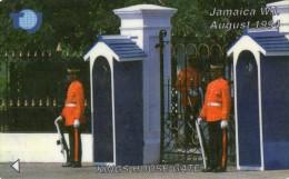 TELECARTE  JAMAIQUE J$ 50  Kings House Gate  SOLDATS SOLDIERS - Jamaïque
