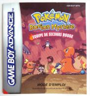 Notice Livret NINTENDO GAME BOY ADVANCE Seul - POKEMON Donjon Mystère Equipe De Secour Rouge - Books