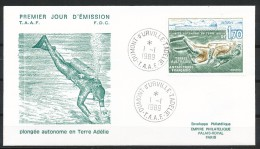 Franz.Gebiete I.d.Antarktis - Mi.Nr .     250  -       Gestempelt -     FDC - FDC