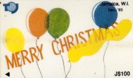 TELECARTE  JAMAIQUE J$100  Merry Christm  Dec 93 - Jamaïque