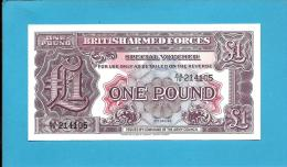 GREAT BRITAIN - 1 Pound - ND ( 1948 ) - Pick M 22.a - UNC. - METAL Security Strip - Second Series - British Armed Forces - British Armed Forces & Special Vouchers