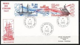 Franz.Gebiete I.d.Antarktis - Mi.Nr .     252 - 253-       Gestempelt -     FDC - FDC