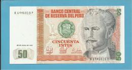 PERU - 50 INTIS - 26.06.1987 - Pick 131.b - UNC. - NICOLAS DE PIEROLA - 2 Scans - Pérou