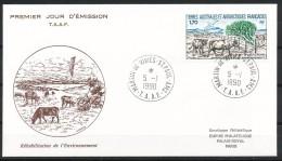 Franz.Gebiete I.d.Antarktis - Mi.Nr .     260       Gestempelt -     FDC - FDC