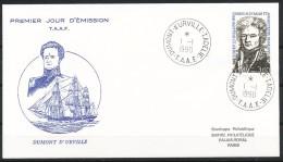 Franz.Gebiete I.d.Antarktis - Mi.Nr .     263       Gestempelt -     FDC - FDC