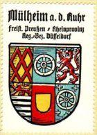 Werbemarke (Reklamemarke, Siegelmarke) Kaffee Hag : Wappen Von Mülheim An Der Ruhr - Thé & Café