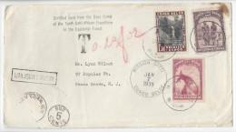 Belgian Congo To US Attilio Gatti 10th Expedition Mission 1939 Postage Due Markings - Belgian Congo