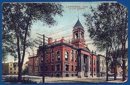 COURT HOUSE Postcard: LAWRENCE, MA, Essex County, 1910 - Lawrence